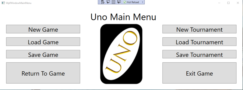 Uno – First Year C# Project using WPF by sara payne