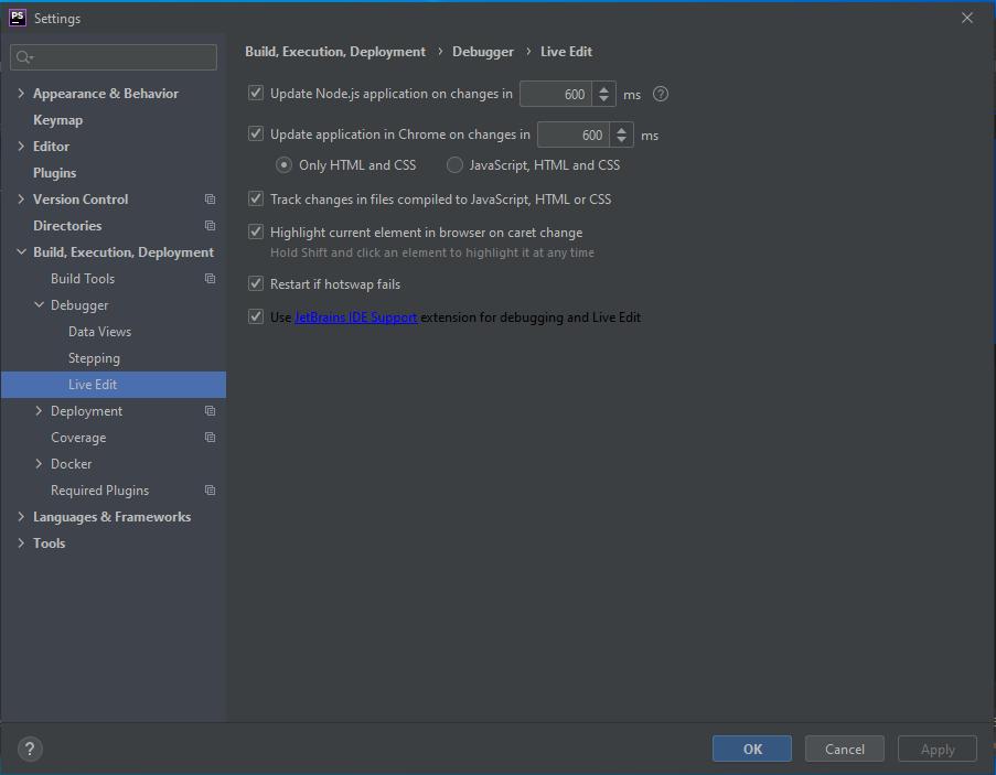 PhpStorm Debug Live Edit Settings - PhpStorm Xdebug Setup