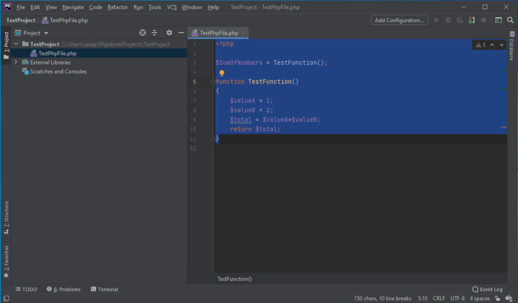 PhpStorm with a simple PHP script - PhpStorm Xdebug Setup