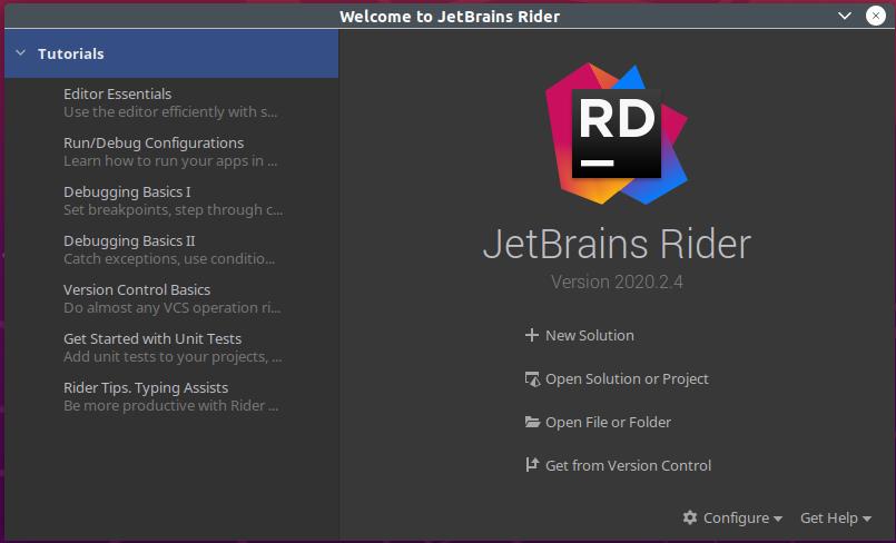 Rider - Start Screen