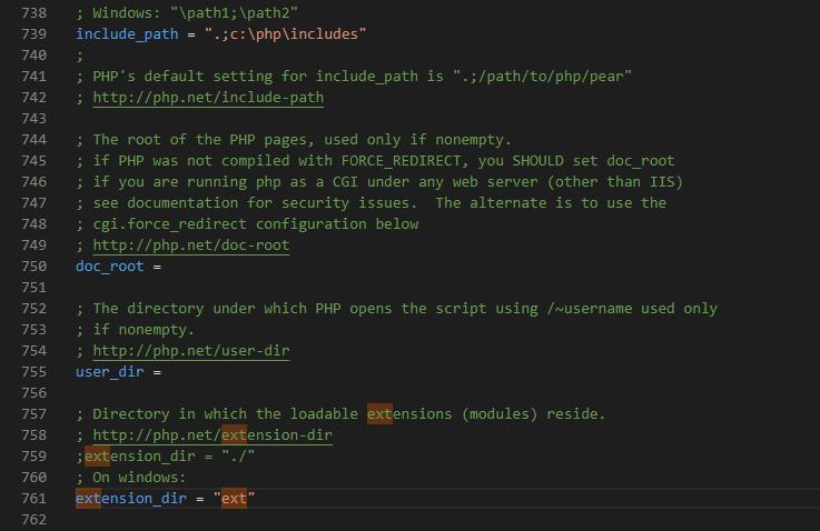 php.ini in Visual Studio Code