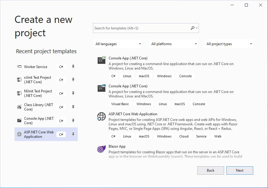 Visual Studio - New Solution Window