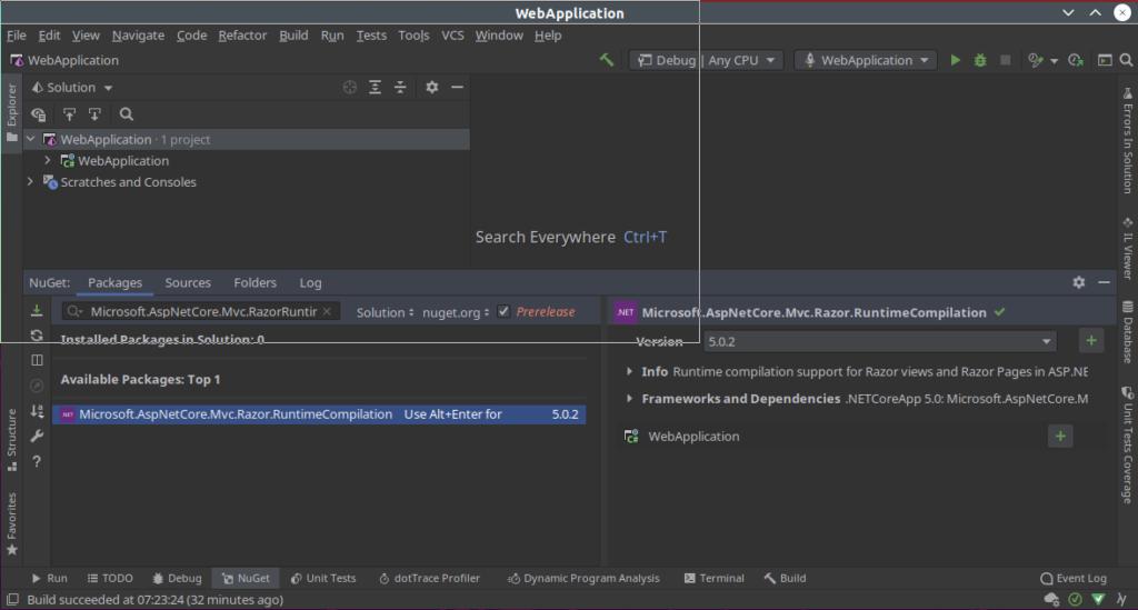 Install Razor Runtime Compilation